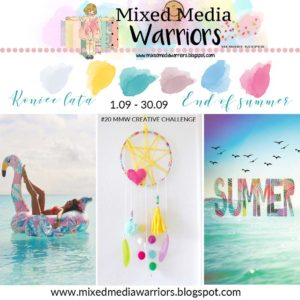 Mixed Media Warriors September Moodboard